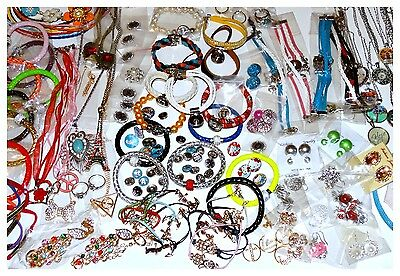 Fashion Jewelry Mixed Lot New Wholesale Snaps Earrings Floating Necklace Resell