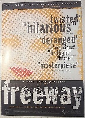"Promotional 7"" X 11"" Australian Release Movie Flyer - Freeway (1996)"