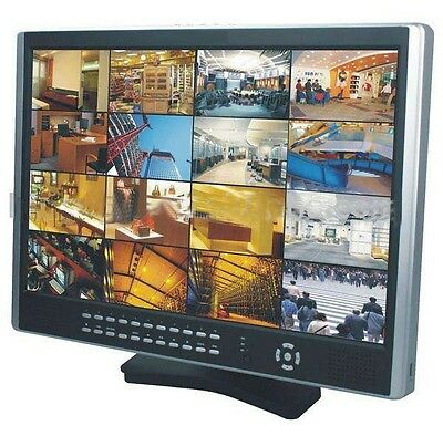 """16Ch DVR with 19""""LCD Monitor All in 1 Security CCTV System Network Smart Phone"""