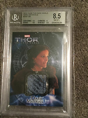 2013 Thor JAIME ALEXANDER Sif BLINDSPOT Screen Worn Costume BGS Card BLUE RELIC