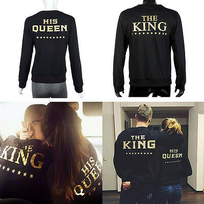 Couple T-Shirt The King and His Queen Love Matching Shirts Couple Tee Top Hoodie