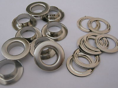12mm Silver Eyelets Grommets & Washers