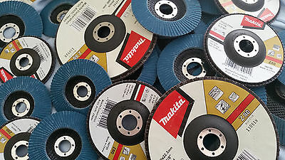 "Makita Flap Disc 4"" (100Mm)  4.5"" (115Mm) 5"" (125Mm) 7"" (180Mm) Zirconia 80 Grit"