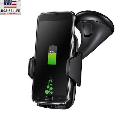 Qi Wireless Car Fast Charger Charging Stand Dock Samsung Galaxy S8/S7/S7 Edge