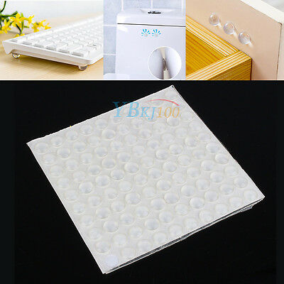 100 Pcs Clear Silicone Self-Adhesive Rubber Feet Semicircle Bumpers Buffer Pad