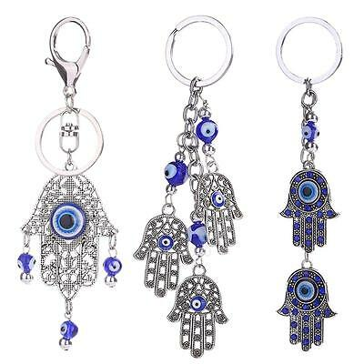 Classic Evil Eye Alloy Hand Charm Keychain Ornaments Key Bag Car Keyring Newest