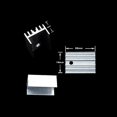 Al Heatsink Heat Sink with Screw Sets For TO-220 Transistor Quali 10x