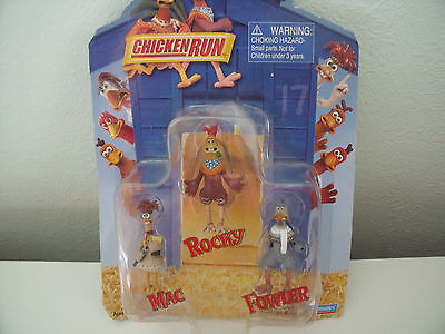 Chicken Run Figures 2000 By Playmate Mac Rocky And Fowler
