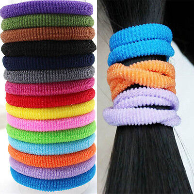 80 pcs Kids Ponytail Holders Rubber Hair Bands Elastic Hair Accessories Tie Gum