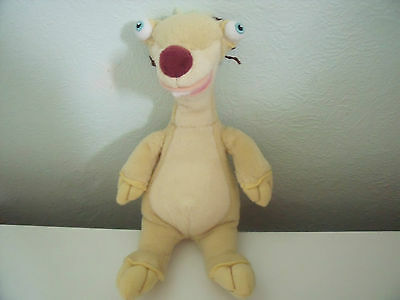 """Ty Beanie Soft Toy """"sid The Sloth"""" From The Iceage Film"""