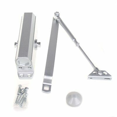 Adjustable Heavy Duty FIRE RATED Overhead Door Opener Closer Soft Close 80kg BY