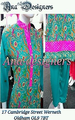 Ethnic Pakistani Designer Fancy Shalwar Kameez Net 4pc(Readymade)Stitched-Size=L