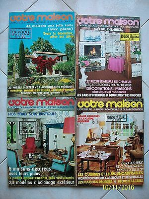 Votre Maison=Maison Individuelle/decoration=Lotto 4 Riviste Anni '70/'80=Lotto 3