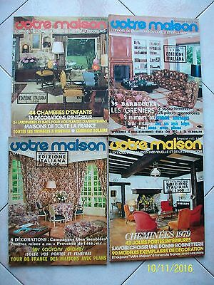 Votre Maison=Maison Individuelle/decoration=Lotto 4 Riviste Anni '70/'80=Lotto 4