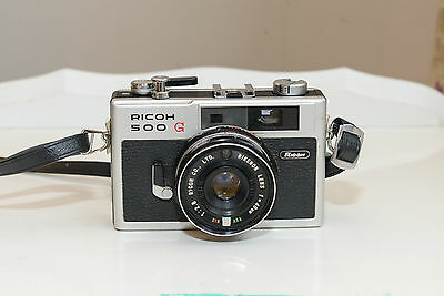 Ricoh 500 G Rangefinder 35mm Camera 40mm 2.8 Lens in Excellent Condition, 1959
