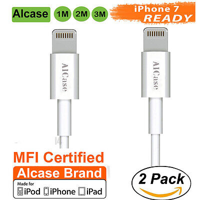 2XGenuine Original Apple iPhone 7 Plus Certified MFI Lightning USB Cable Charger