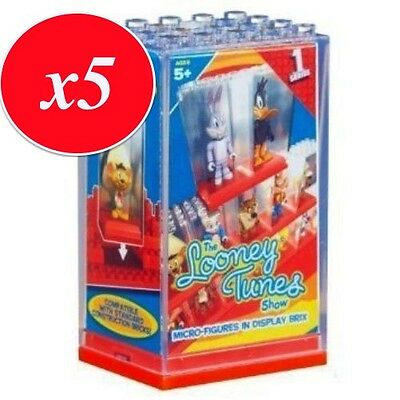Looney Tunes Character Building Micro-Figures in Display Brix X 5 - 05173 - New