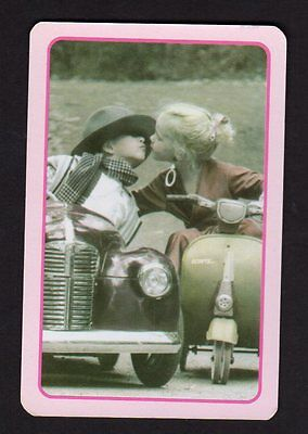Vintage Swap/Playing  Card - Cute Kissing Couple