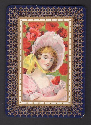 WIDE Swap/Playing  Card - Lady in Bonnet