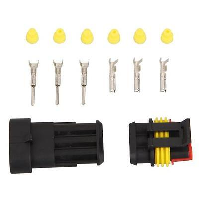 3 Pin 5 Kit Way Waterproof Electrical Wire Connector Plug New