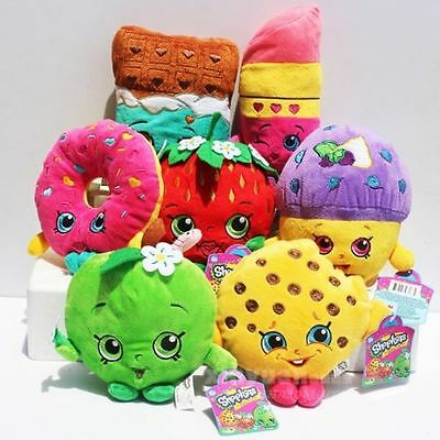 Shopkins Store family KIDS soft plush toy 7pcs set for kids girls baby new gift