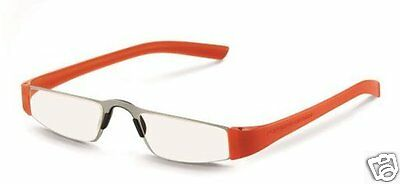 Porsche Design P 8801 O orange Lesebrille +1,50 Halbbrille SONDEREDITION NEU+1,5