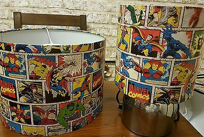 Brand New Marvel Avengers ceiling lightshade and touch lamp set hand crafted