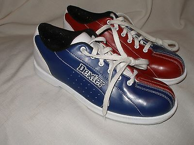 Dexter Red White Blue Lace Up Bowling Sport Shoes Mens Size 9
