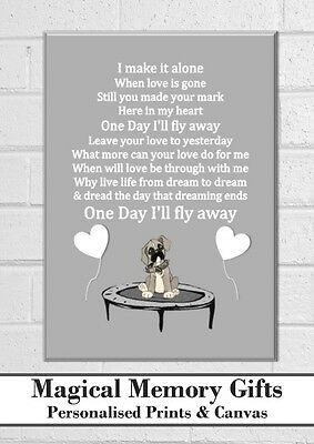 Buster the dog John Lewis inspired lyric song print a4 lovely gift word art