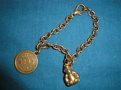 New*kipling Monkey Statue Gold Charm For Bag Or Bracelet*very Rare*collectible