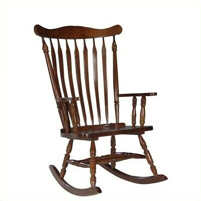 International Concepts Solid Wood Rocking Chair in Soft Cherry