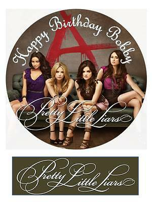 Pretty Little Liars Personalized Edible Cake toppers 7 Inch cupcakes Precut