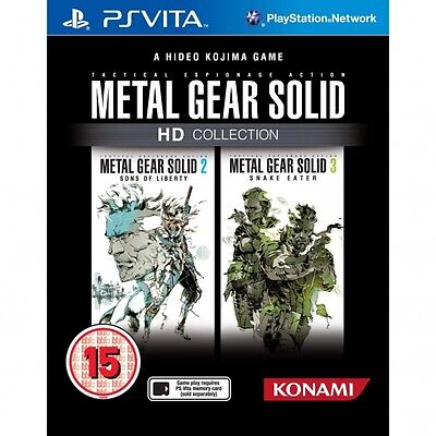 METAL GEAR SOLID HD COLLECTION Playstation PS Vita - NEW & SEALED