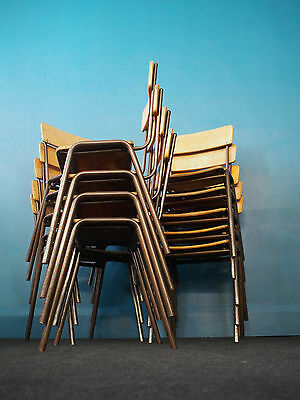 VINTAGE SCHOOL STACKING CHAIR Cafe, Coffee Shop, Restaurant, Bar, Pub FULL SIZE