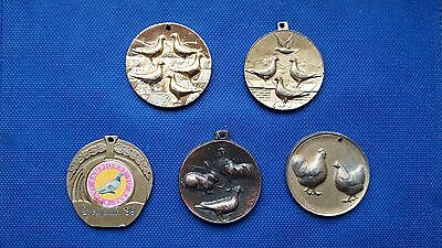 Five Medals - Pigeons - Birds - Poultry - Yugoslavia Edition - Variant 2