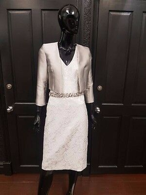 Linea Raffaelli dress and jacket Size 8. Mother of the Bride and Groom Outfit.