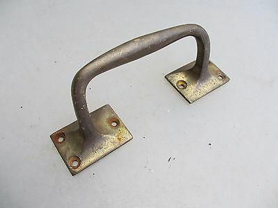 Vintage Brass Door Handle Shop Pull Architectural Antique Old Pub Edwardian Knob