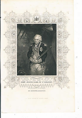 Engraving John Jervis Earl Of St Vincent London Printing And Publishing Co