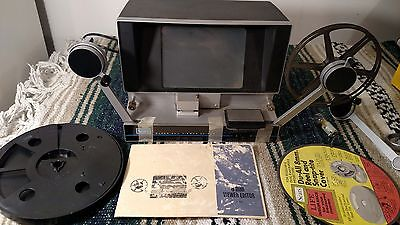 Vintage Sears SUPER 8mm VIEWER EDITOR / SPLICER W/ Reels & Free Shipping