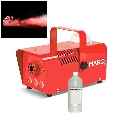 Marq Fog 400 LED Red DJ Party Smoke Fog Effects Machine with LED Lights & Fluid