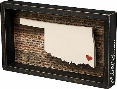 OKLAHOMA Primitives by Kathy Favorite Place State Box Sign
