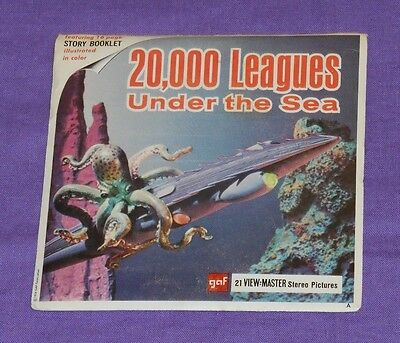 vintage 20000 20,000 LEAGUES UNDER THE SEA VIEW-MASTER REELS with booklet