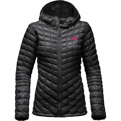 The North Face Women's THERMOBALL HOODIE Hooded Insulated Jacket Asphalt Grey M