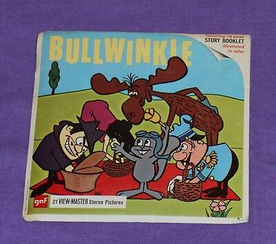vintage BULLWINKLE and Rocky VIEW-MASTER REELS with booklet