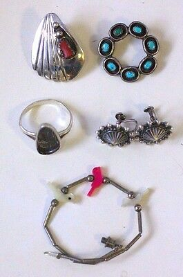 Mix Southwestern Sterling Silver Jewelry Lot FOR PARTS or REPAIR