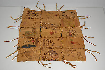15 Antique Postcards Salem PittsField Fitchburg MA Wall Art Sewn Leather Hide