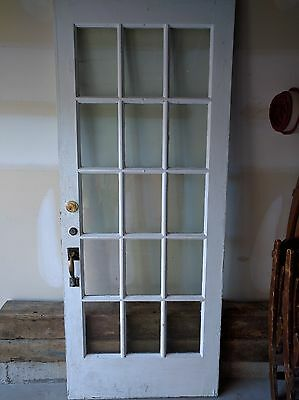 Antique French White Door Heavy