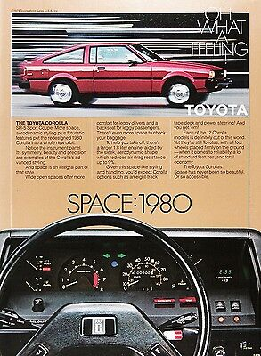1980 TOYOTA COROLLA Genuine Vintage Advertisement ~ SR5 Sport Coupe