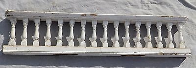 "Antique 65"" Wood Porch Spindle Span Gingerbread Victorian Architecture 1976-16"