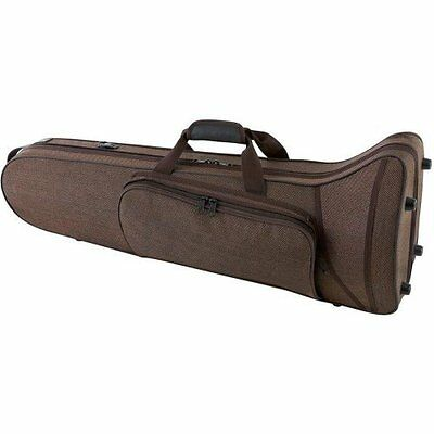 "GEWA 398275 ""form-Shaped"" Compact Series Bass Trombone Case - Black Velour/Brown"